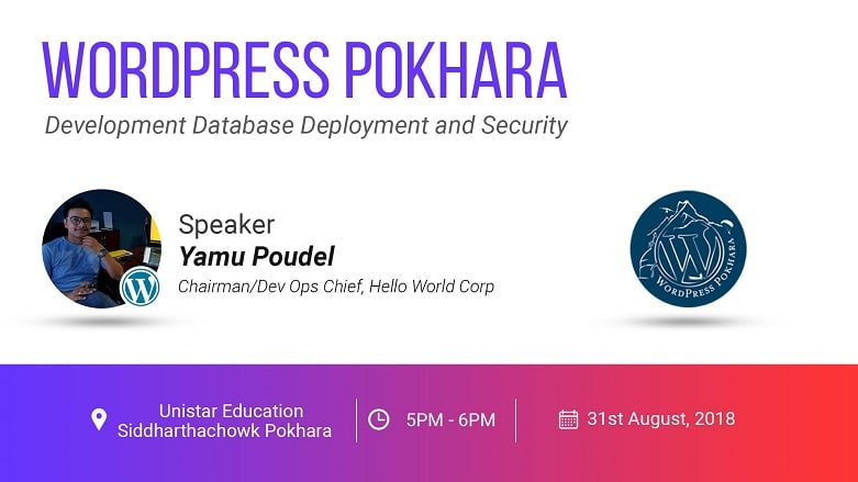 WordPress Pokhara August Meetup 2018 is Tomorrow!