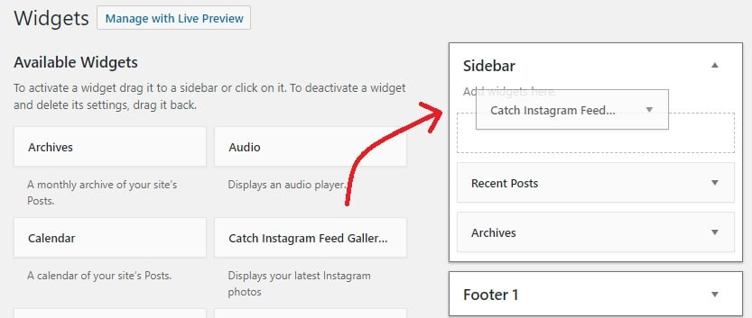 drag and drop catch instagram plugin