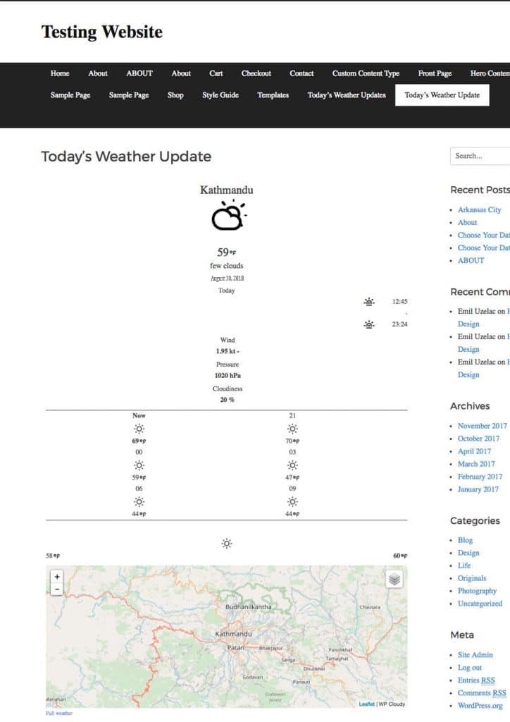 How to Display Weather Forecast in WordPress | DevotePress