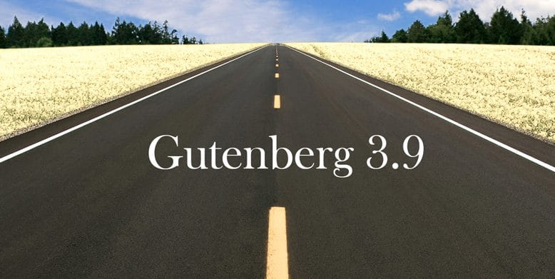 gutenberg 3.9 released