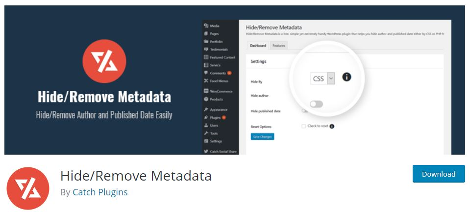 Hide/Remove Metadata Plugin