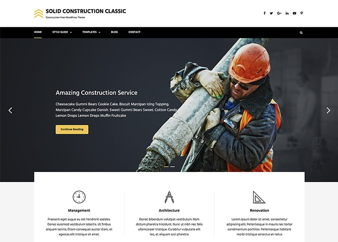 Solid Construction Classic. Image Source: Catch Themes