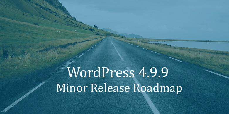 WordPress 4.9.9 Minor Release Roadmap: Site Health Project, Gutenberg Preparation and more.