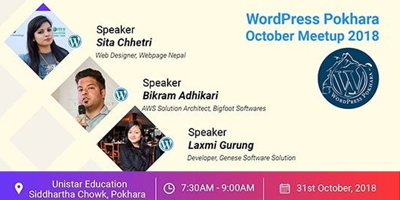 WordPress Pokhara October Meetup 2018 is Tomorrow!