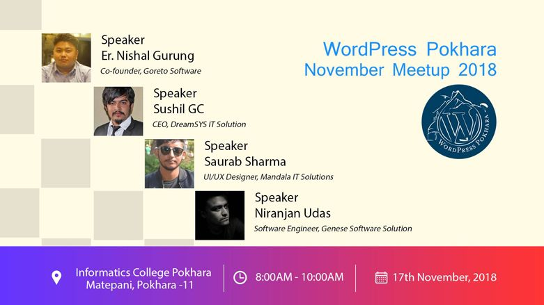 WordPress Pokhara November Meetup 2018