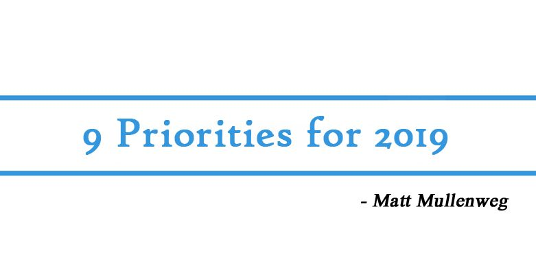 9 priorities for 2019 by Matt Mullenweg