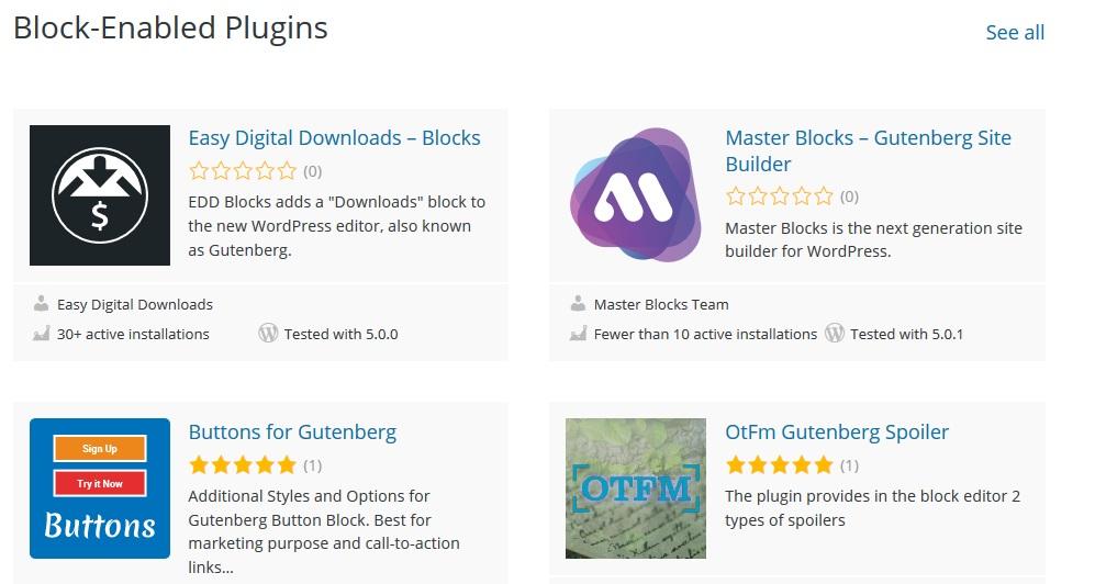 Block-Enabled Plugins in WordPress Plugin Repo