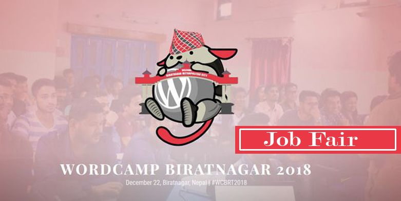 Job Fair at WordCamp Biratnagar 2018