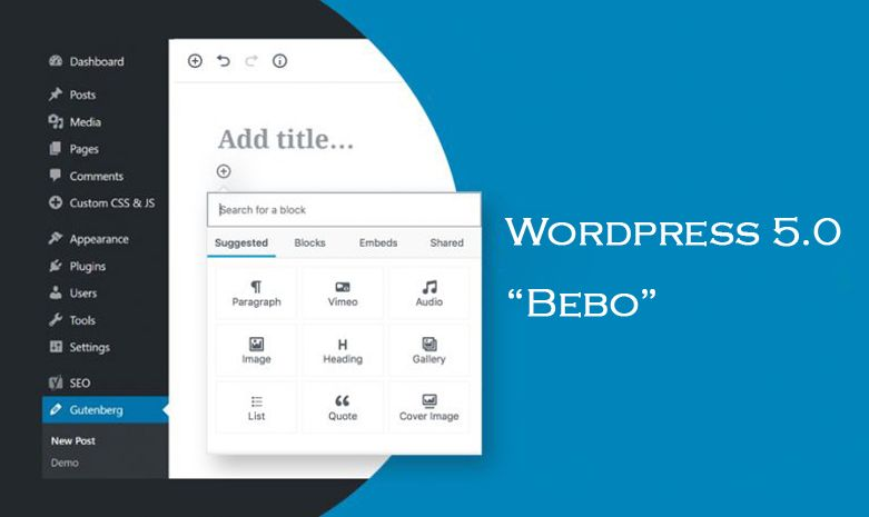 "WordPress 5.0 ""Bebo"" is Finally Here! Let's Welcome the New Editor"