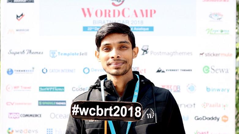 Abul Khayer at WordCamp Biratnagar 2018
