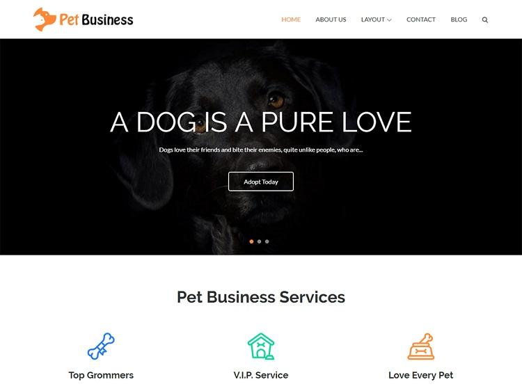 Pet Business. Image Source: Theme Palace