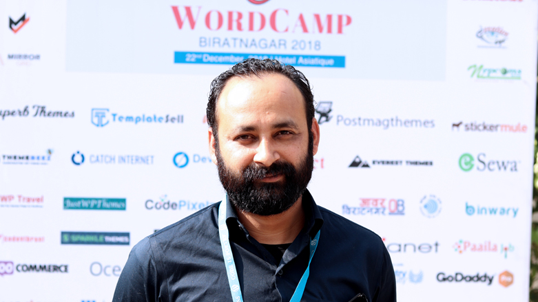Prakash Upreti at WordCamp Biratnagar 2018