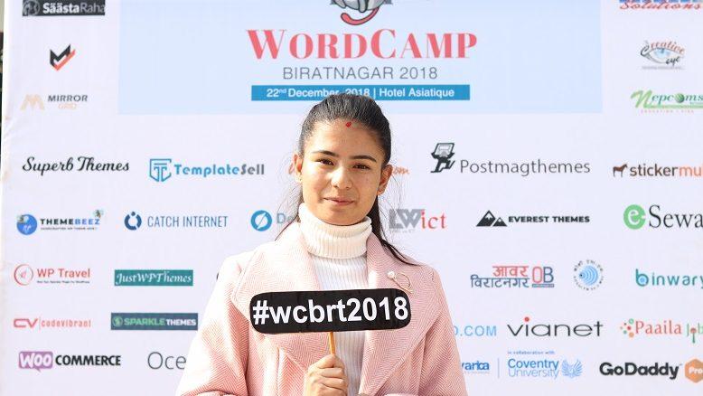Prithu Singh Thakuri at WordCamp Biratnagar 2018