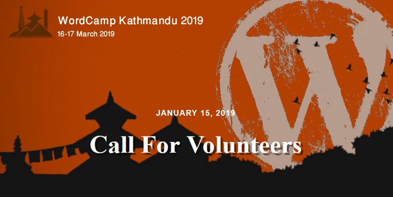 WordCamp Kathmandu 2019 - call for volunteers