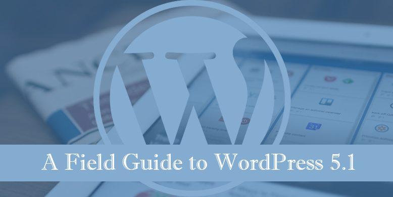 A field guide to WordPress 5.1