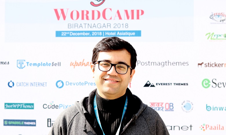 Fahad Murtaza at WordCamp Biratnagar 2018