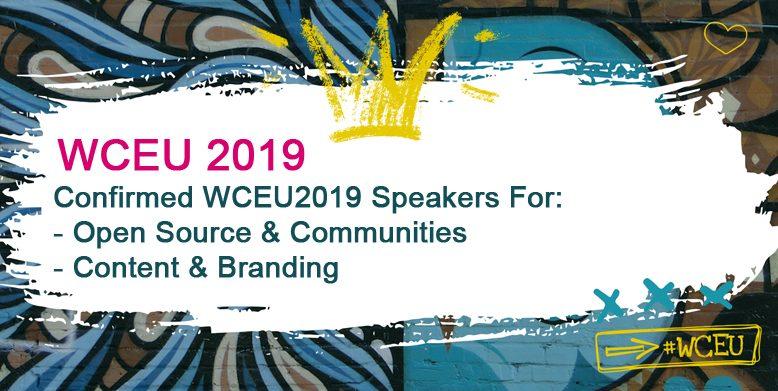 Confirmed WCEU2019 Speakers