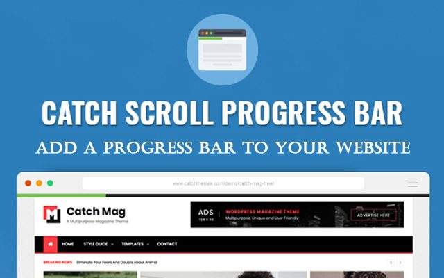 Make your website Extraordinary! Add a Progress Bar to your website with Catch Scroll Progress Bar Plugin