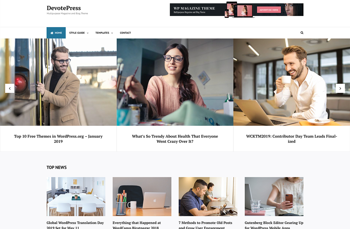 DevotePress gets a Makeover with a Brand New Theme
