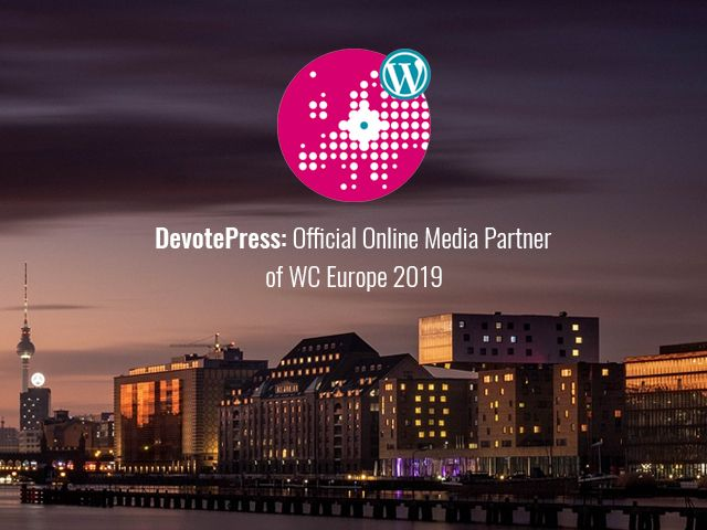 DevotePress WCEU 2019 Official Online Media Partner