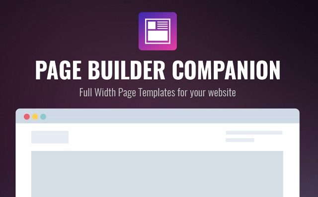 Creating Full Width Pages with Page Builder Companion