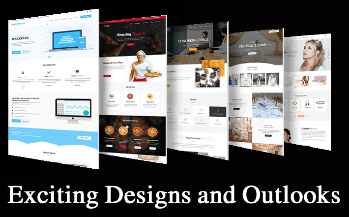 Exciting Designs and Outlooks. WordPress is best for eCommerce websites.