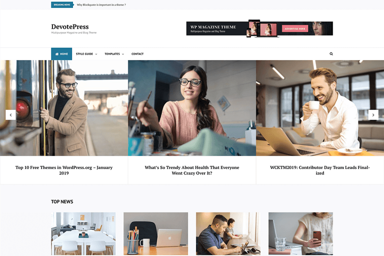 Top 10 Free Themes in WordPress.org - April 2019