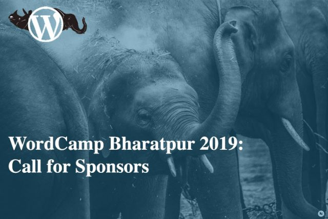 WordCamp Bharatpur 2019: Call for Sponsors