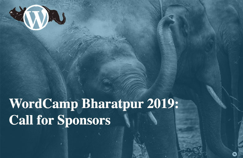 WordCamp Bharatpur 2019 - Call for Sponsors