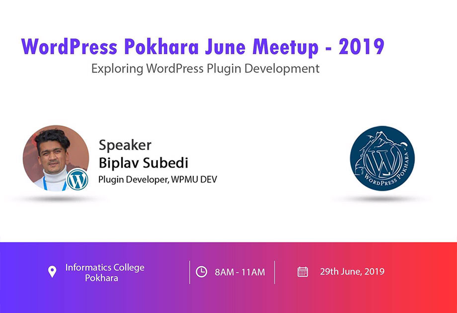 wordpress pokhara june meetup 2019