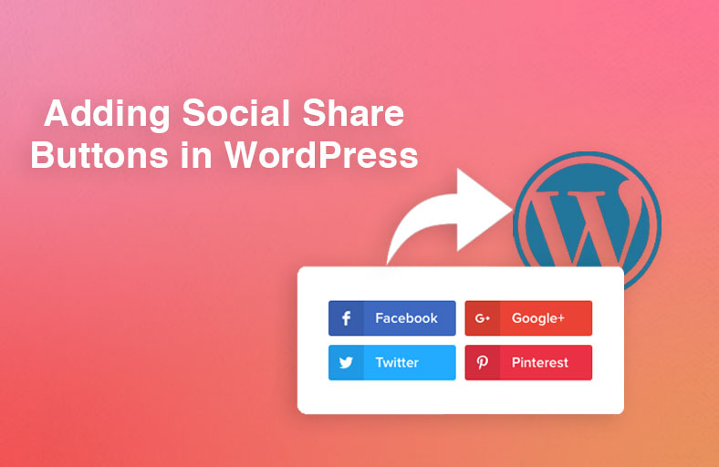 Add social share buttons in WordPress
