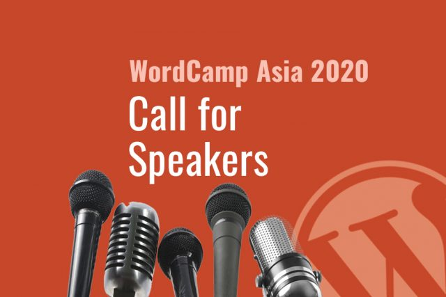WordCamp Asia 2020:  Call for Speakers