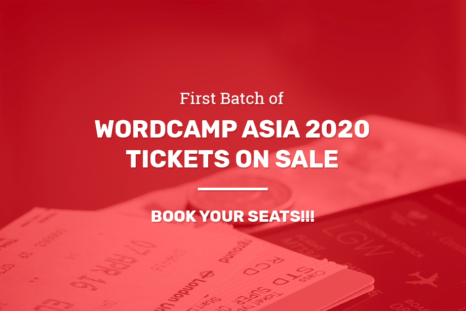 WordCamp Asia 2020 Tickets on Sale