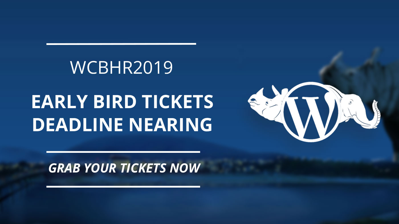 wcbhr2019 early bird tickets deadline nearing