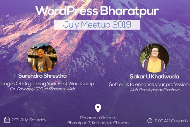 WordPress Bharatpur July Meetup 2019 Announced!
