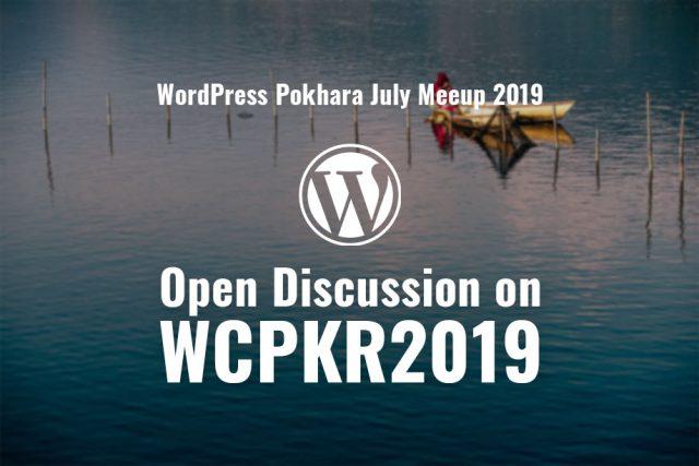 WordPress Pokhara July Meetup 2019 to be held on July 29, 2019