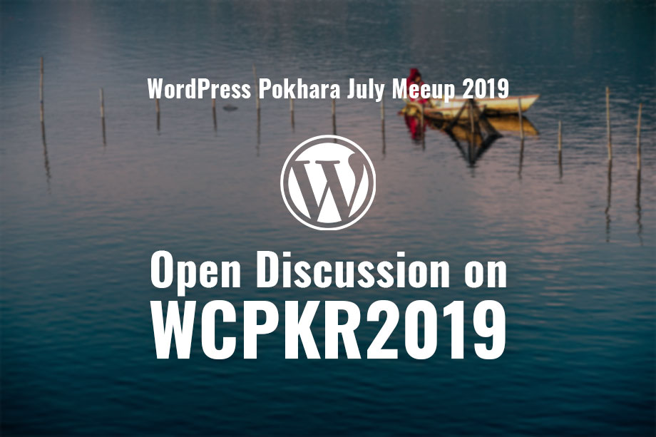 wordpress pokhara july meetup 2019
