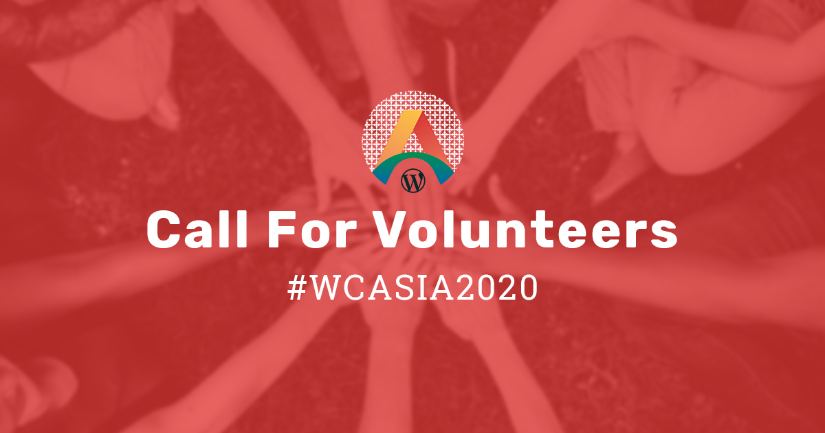 WCASIA2020 - Call for Volunteers