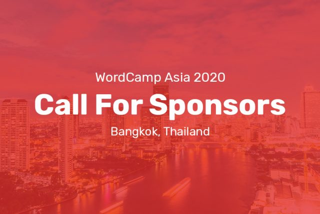WordCamp Asia 2020 – Call for Sponsors