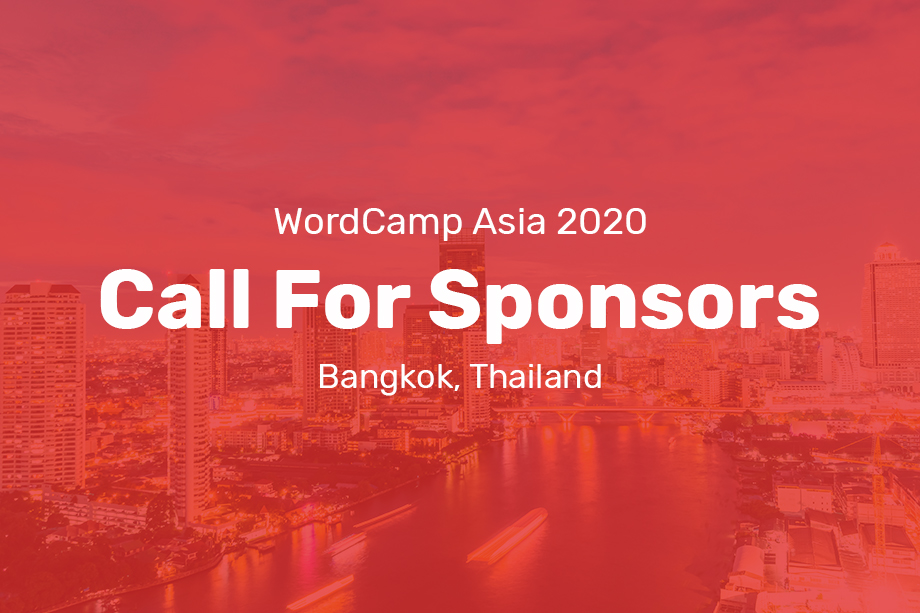 WordCamp Asia 2020 Call for Sponsors