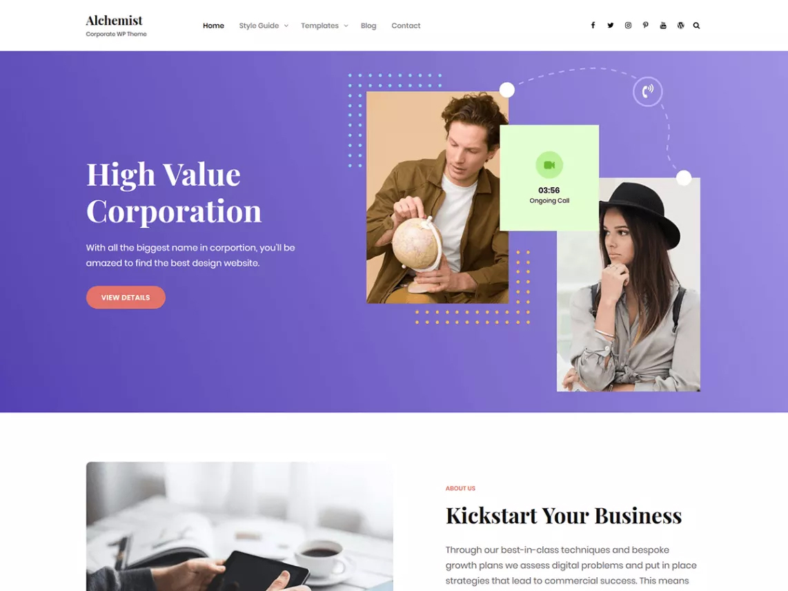 Alchemist - Top 10 Free Themes in WordPress.org - July 2019