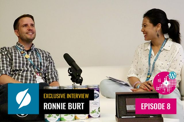 In conversation with Ronnie Burt at WordCamp Europe 2019