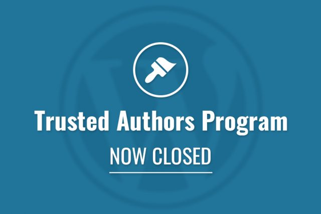 Trusted Authors Program Now Closed!