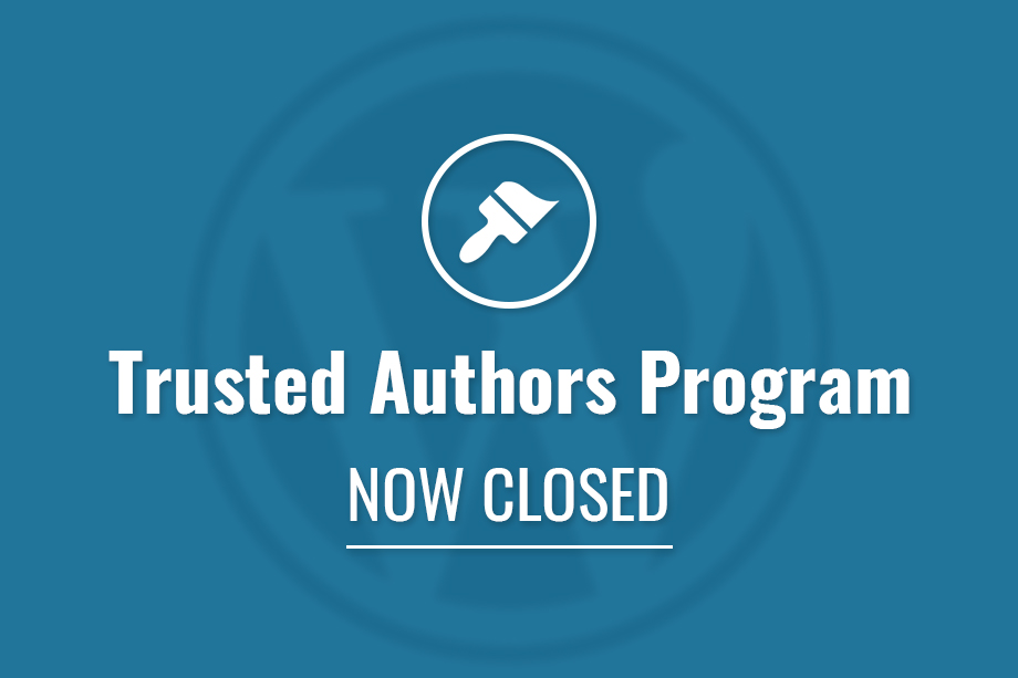 Trusted Authors Program now Closed