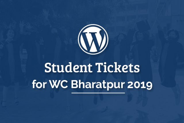 Student Tickets to WCBHR2019 Available Now!