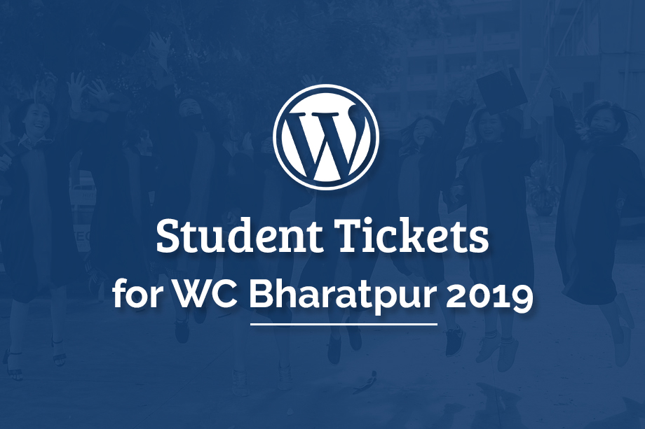 Student Tickets to WCBHR2019