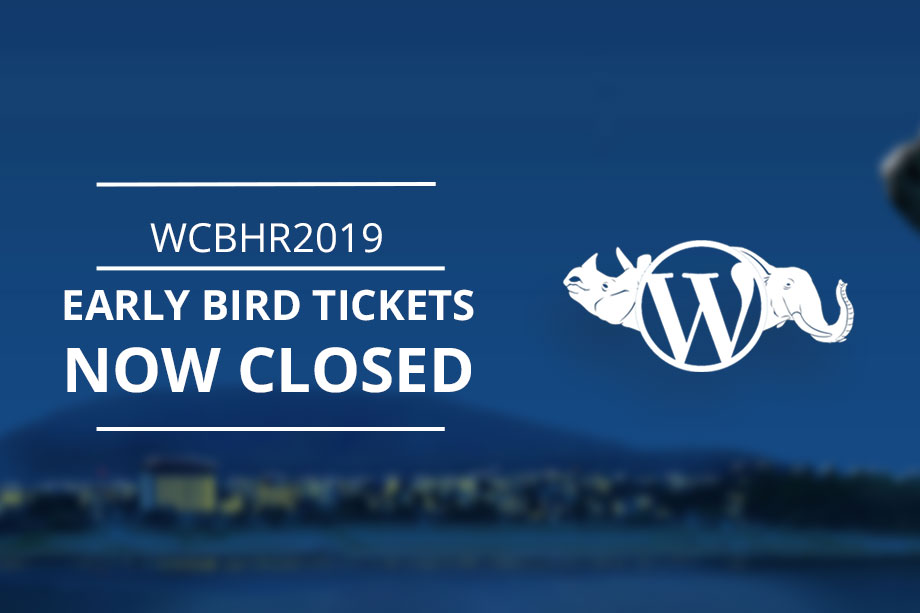 wordcamp bharatpur 2019 early bird tickets