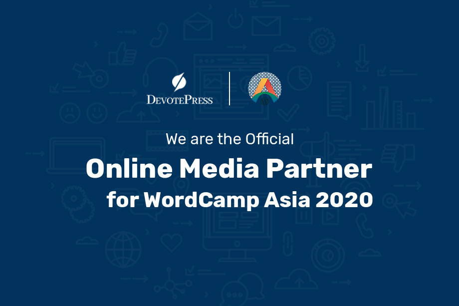 DevotePress is the Official Online Media Partner for WordCamp Asia 2020