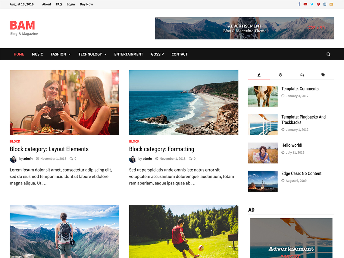 bam wordpress theme
