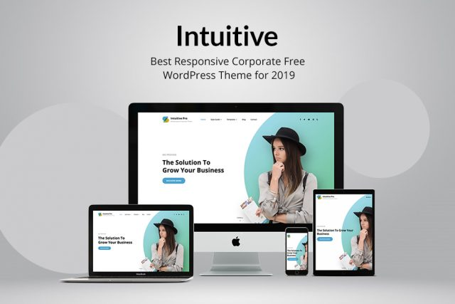 Intuitive – Best Free Responsive Corporate WordPress Theme for 2019